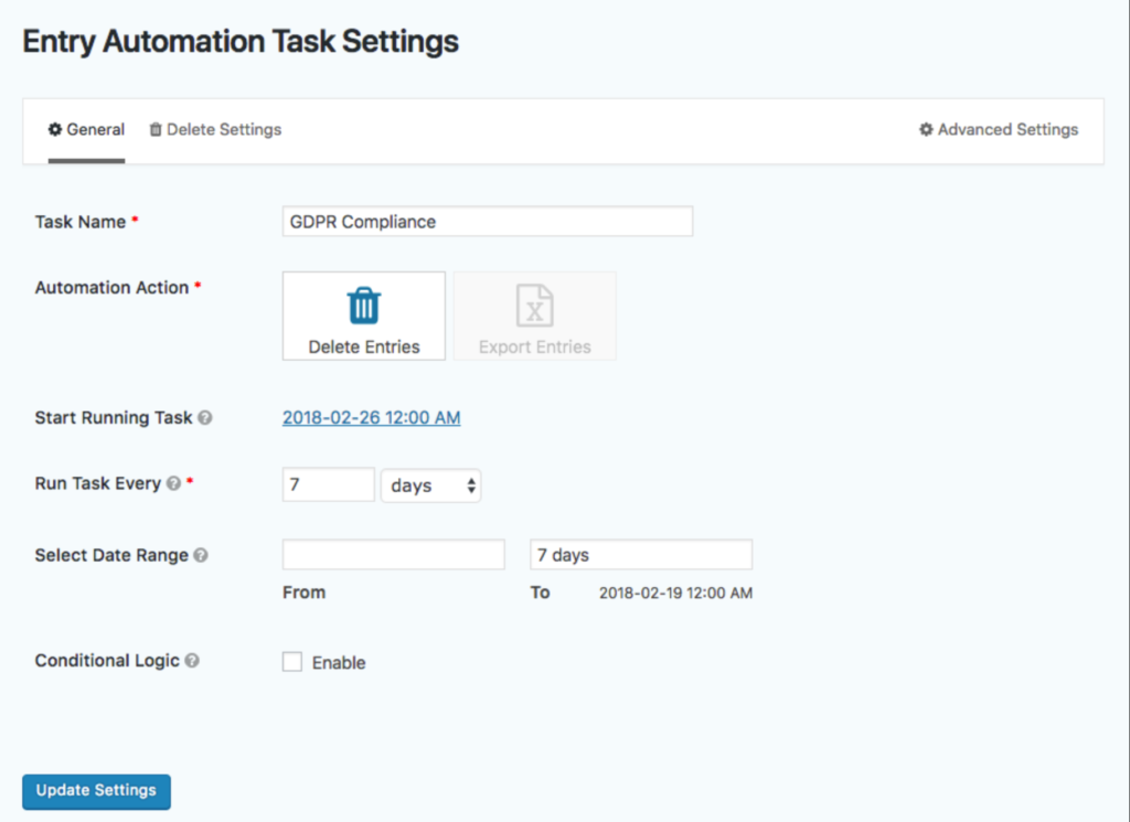 Save your form automation