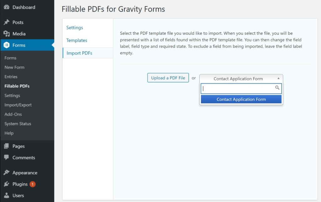 Import PDF as form