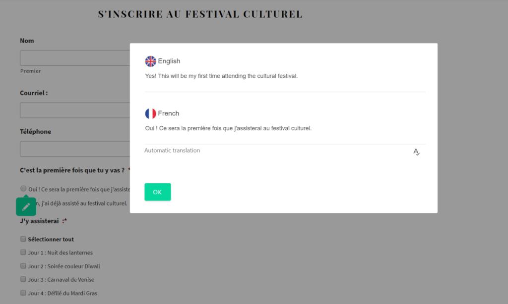 Modify translations in Weglot's visual editor