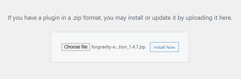 Gravity forms export to excel - entry automation installation
